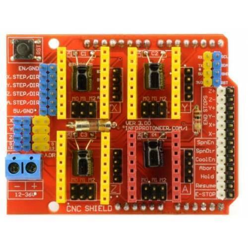 Arduino CNC shield v3 A4988 DRV8825 Driver Expansion Board In Pakistan