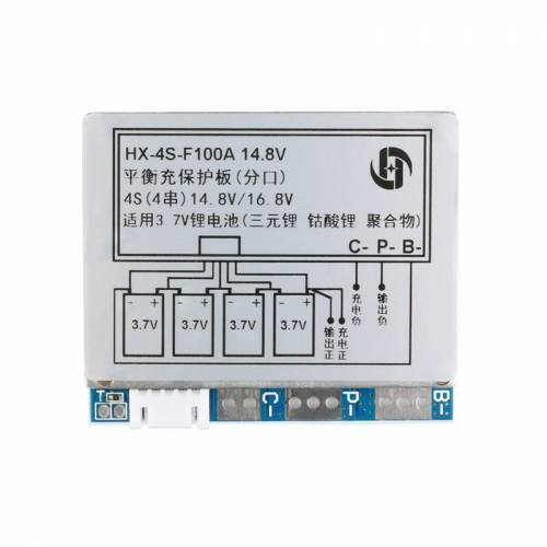 HX-4S-F100A 100A 4S BMS 18650 Battery Protection Board
