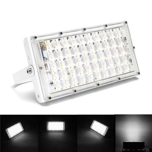 50W 50 LED White Shell Waterproof Flood Light