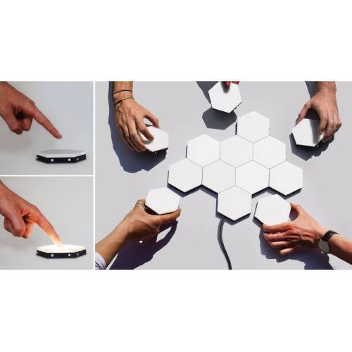 White Color Touch Light Wall Mount Magnetic Modular ( 1 Piece price )