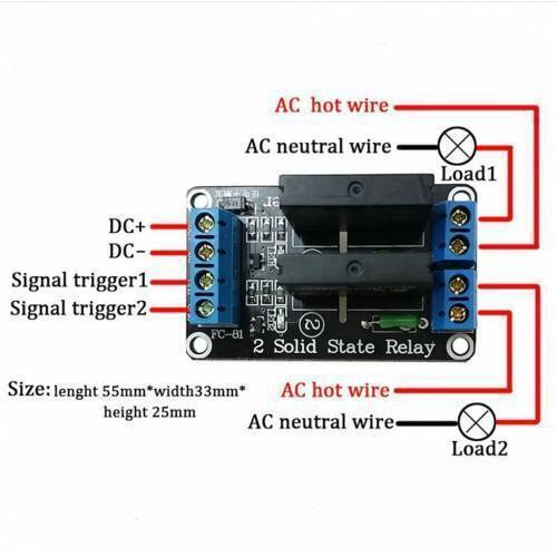 Solid State Relay SSR Module 2 Channel For Arduino