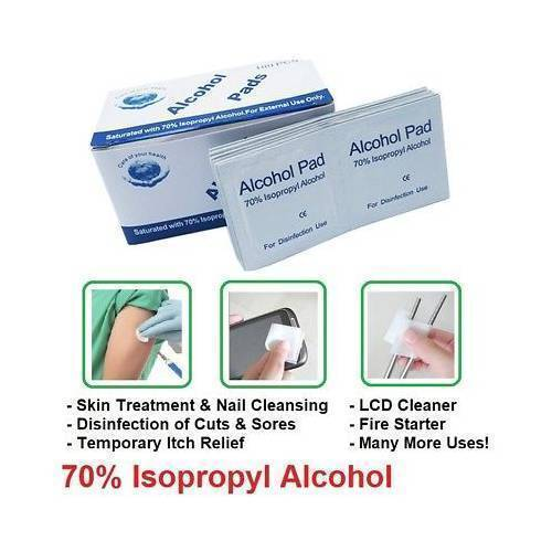 Alcohol Swabs BD Isopropyl  For Disinfection for mobile 200 Pcs Pack