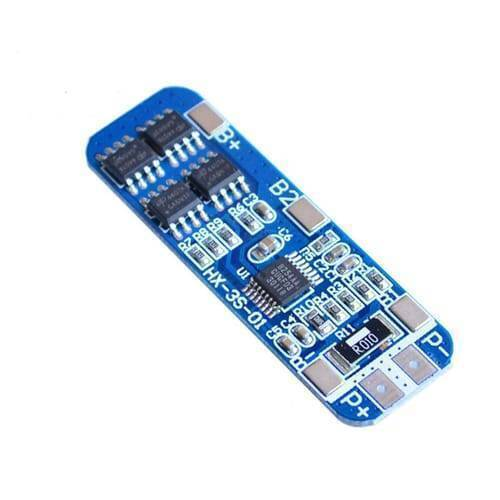HX-3S-1 Lithium Battery 3S 12V 10A Charge Protection Board BMS PCM for 18650 Li-ion Cells Charging