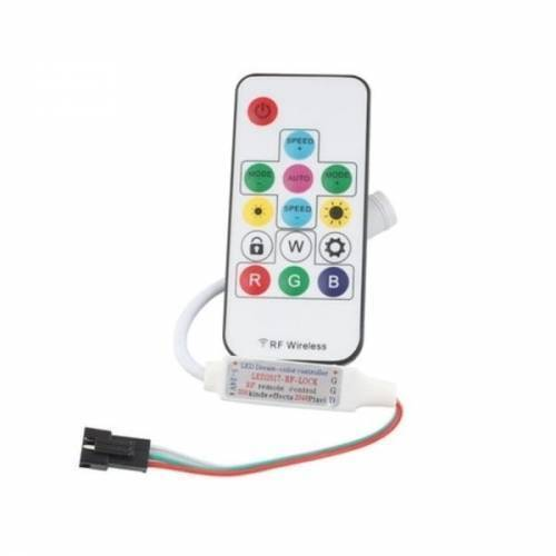 RGB LED Pixel Strip Lights Wireless Remote Controller for WS2811 SK6812 WS2812B 6803 1903