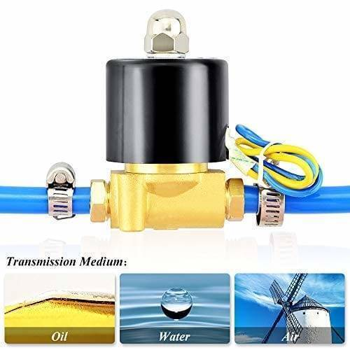 1/4 Inch 220V AC Brass Solenoid Valve For Water Oil Gas