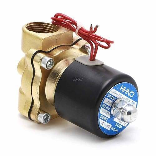 3/4 Inch 220V AC Brass Electric Solenoid Valve For Water Air Gas Fuels
