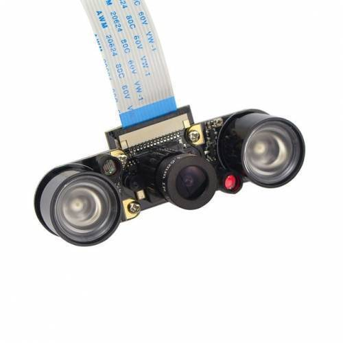 Night Vision 5MP Camera Module For Raspberry Pi With 2 IR LEDs