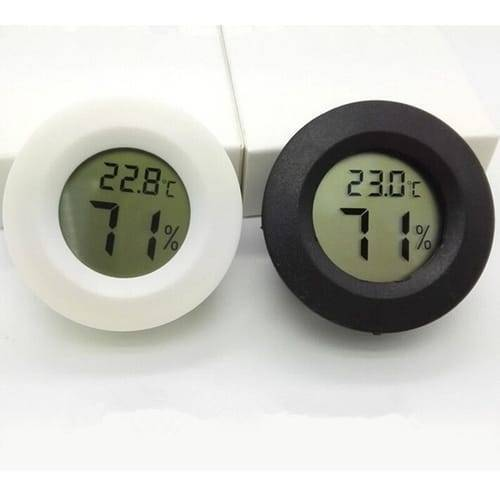Round LCD Hygrometer Thermometer Temperature Humidity Meter