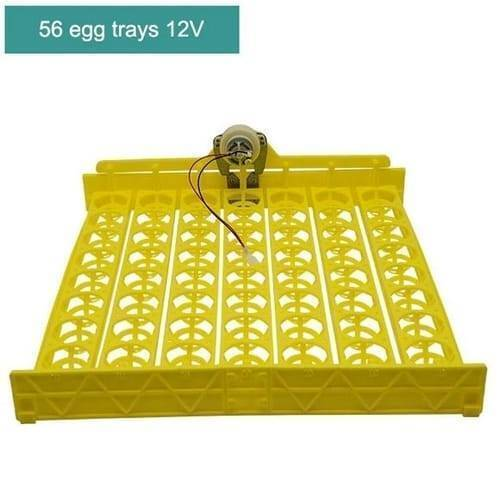 56 Eggs Tray Poultry Chicken Bird Eggs 12V Incubator Turner Tray With Turning Motor