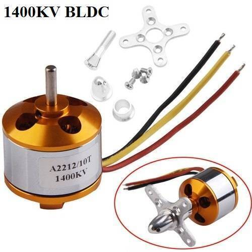 A2212 1400KV Brushless DC BLDC Motor For DIY RC Aircraft Multicopter