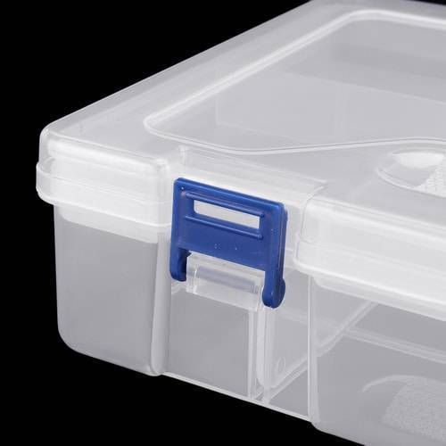 Adjustable Double Layer Component Organizer Tool Container Storage Box