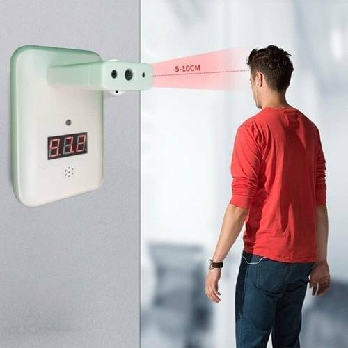 Digital Wall Mount Infrared Forehead Temperature Thermometer YNA-800