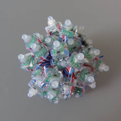50Pcs Full Color LED Smart Pixel Node String DC12V WS2811 Chip