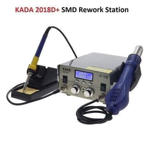 KADA 2018D+ SMD BGA Rework Station Hot Air Gun Soldering Iron 2 in 1 Welding Station