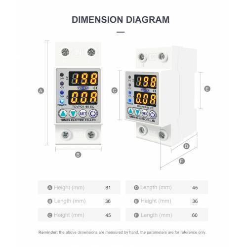 TOMZAN TOVPD1-60 Adjustable Over And Under Voltage Relay  Voltage fluctuation protection device