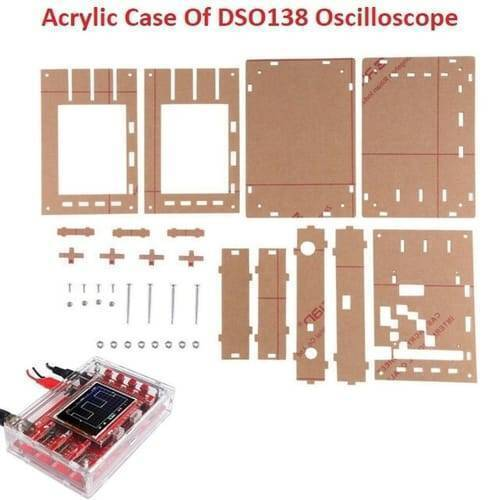 Transparent Acrylic Case Housing Module For DSO138 2.4 Inch TFT Digital Oscilloscope Anti Scratch Protection Shell DIY Kit