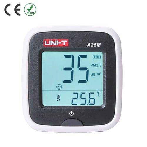 UNI T Auto Range Air Quality Monitor A25M PM2.5 Testers