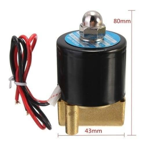 1/4 Inch 24v DC Solenoid Valve For Water Air Gas