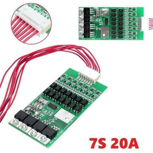 7s 20A 4v 18650 Lithium Lion Battery Charger Module Protection Board BMS PCB With Wire