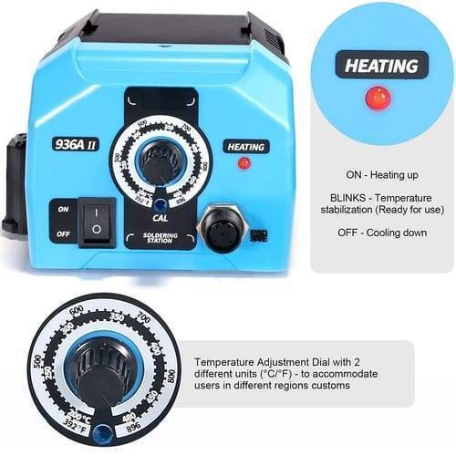 Adjustable Soldering Iron Station WEB 936A II 65W With Intelligent Working Light