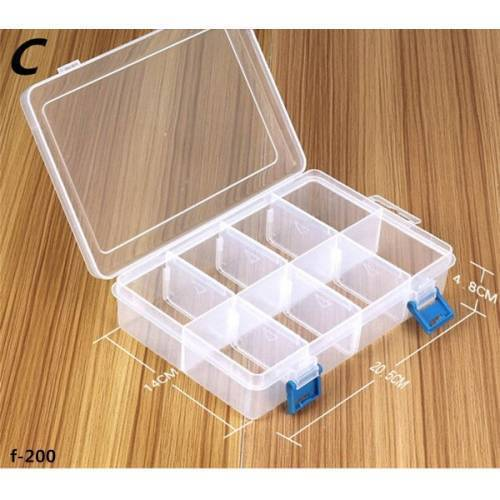 G200 F200 Plastic Tool Box Multi functional Storages Container for Electronic Parts Screws Tool Organizer G-200 F-200 Box Storage