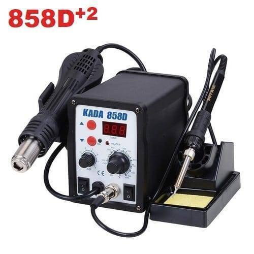KADA Digital SMD Soldering Rework Station 858D+2 with Hot Air Gun And Soldering Iron