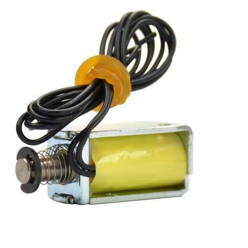 Micro Electromagnet DC12V 1.5W 4MM Stroke Through  Push Pull Type Solenoid Electromagnet