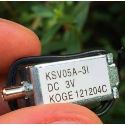 Mini 3V DC Solenoid Valve KSV05A Normally Open For Gas Air Valve