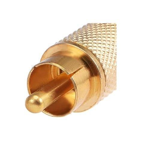 RCA Connector Gold Plated Male Plug Audio Video Adapter Coaxal Cable Metal Connector