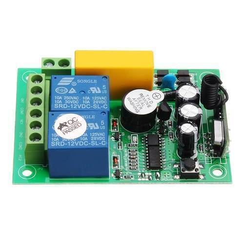 2 Channel Wireless 433Mhz Remote Control Switch Module AK RK02S 220B With RF Remote Controller Transmitter