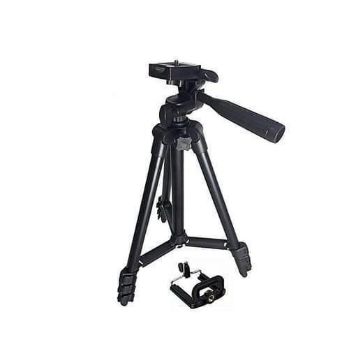 3120 Adjustable Tripod Stand With Mobile Holder For Camera And Phones