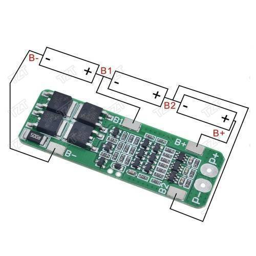 3S BMS 20A Li-ion Lithium Battery 18650 PCB Charger Protection Board