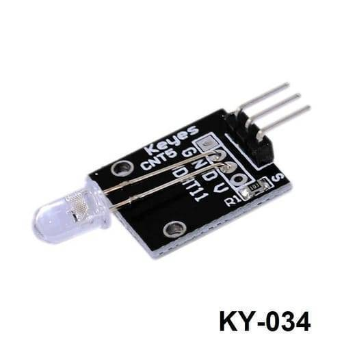 7 Color Flashing LED Module KY 034 In Pakistan