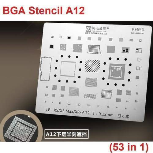 BGA Reballing Stencil A12 compatible with Apple iPhone XR iPhone XS iPhone XS Max