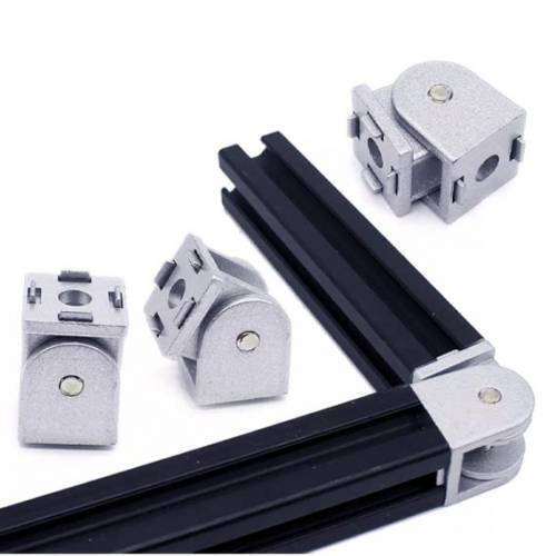 Flexible Pivot Joint Connector Zinc Alloy Hinge With Handle For Aluminum Extrusion Profile 4040