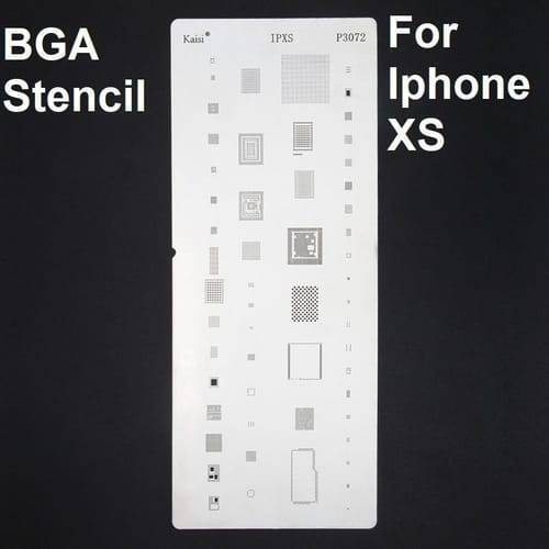 IC Rework BGA Reballing Stencil Compatible with Apple iPhone XS