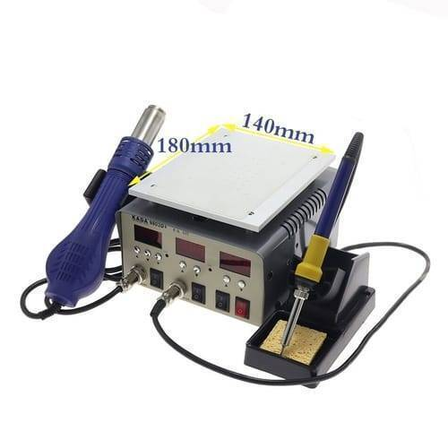 KADA 9803D+ Digital 3 in 1 Touch LCD Glass Screen Separator Hot Air Soldering Iron SMD Rework Station