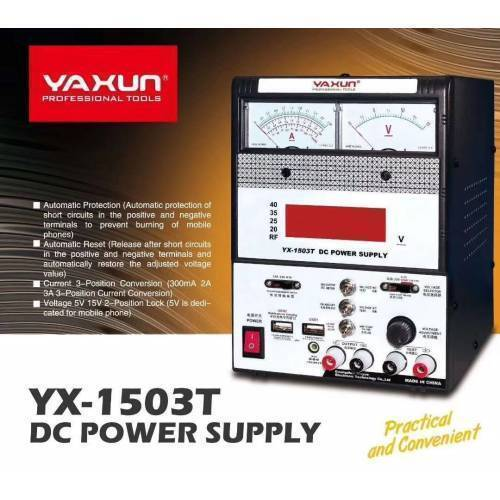 Variable Power Supply For Mobile Repairing YX1503T 15V 3A MULTI FUNCTION