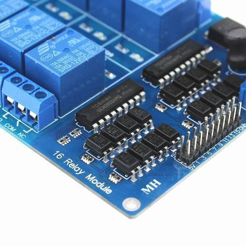 12V 16 Channel Relay Module with OptoCoupler LM2576 Power Supply