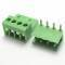 4 Pin Connector PCB Mount Right Angle, Bent Screw Terminal