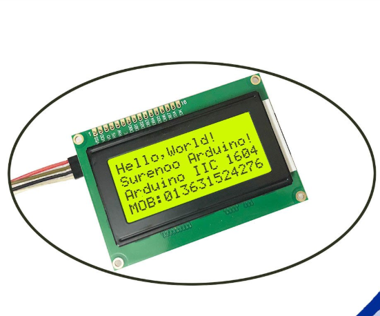 IIC / I2C / TWI 164 1604 16x4 LCD screen module character series yellow green blue with backlight for Arduino