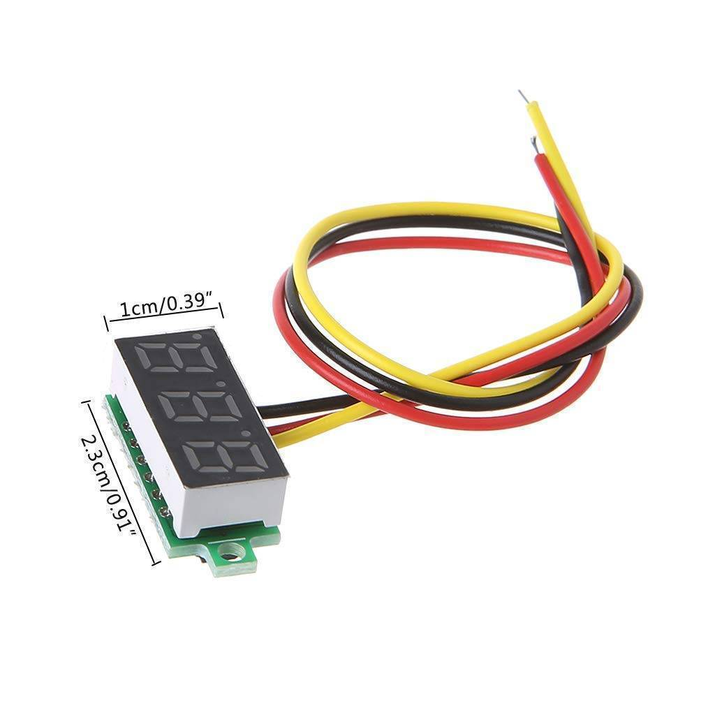 Three wire 0.28 Inch LED Mini DC Voltmeter