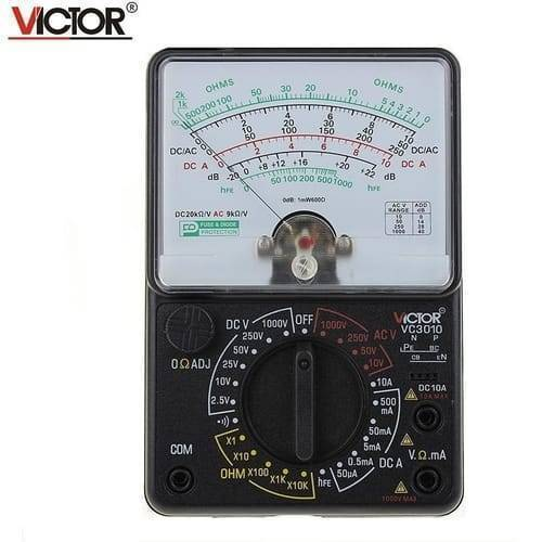 Universal Analogue Pointer Multimeter Victor VC3010 AC DC Analog Meter