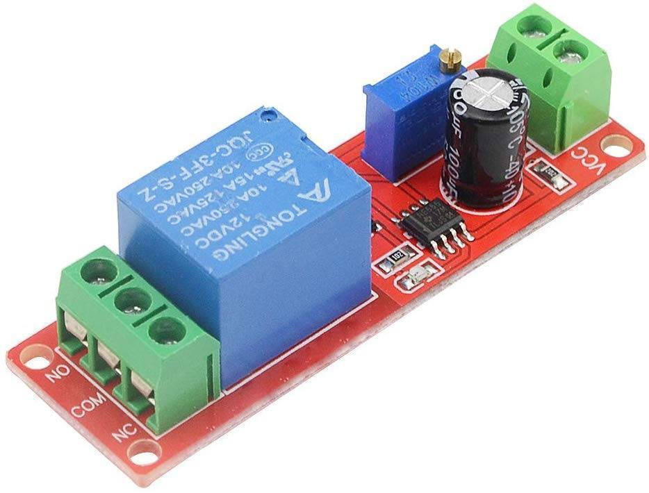 DC 12V NE555 Delay Relay Module Time Delay Switch Delay Adjustable 0~10 Second